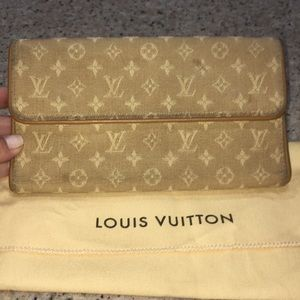 WEDNESDAY MORNING SALE Louis Vuitton Denim Wallet